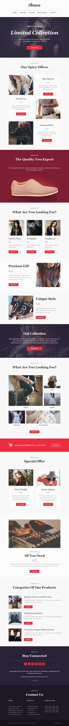 Amare Responsive Email & Newsletter Template #mailchimp #modern #multipurpouse #$18