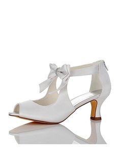 Buy discount In Stock Elegant Satin Upper Peep Toe Stiletto Heel Wedding  Shoes With Bowknot at Dressilyme.com 2dfae064ba8