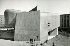 Church Sainte-Bernadette du Banlay  with Paul Virilio, Odette Ducarre, Morice Lipsi and Michel Carrade. Nevers, France 1963.