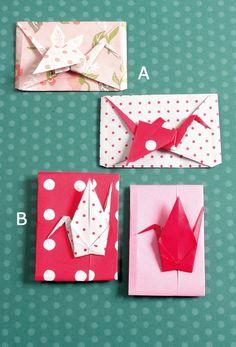 ちょっとした心づけを手渡す時に、かわいい袋に入れたり包んだりするのは、 美しい「おもてなし」の心ですね。 正方形の紙の角で半身の鶴を折り、飾るように包んだ「たとう」です。 お祝いやお正月のお年玉などに最適な「ぽち袋」です。