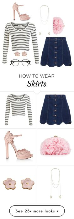 """if you want to know the truth: i really dont like jean skirts, none of these pinks are the same color, this set is a hot mess"" by adriannaslokis on Polyvore featuring moda, Gorjana, Miss Selfridge, Betsey Johnson, Alexander McQueen, women's clothing, women's fashion, women, female y woman"