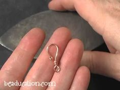 ▶ Simple Hammered Clasps - Beaducation.com - YouTube.  Great tutorial for simple clasps - I made mine in copper and used fabric (sari silk ribbon) instead of leather - turned out great!