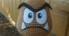 Well, after many requests for this fella, here he is. Goomba from Mario Brothers. He's kinda cute for a grumpy guy. LOL My girls ha...