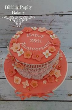 35th Wedding Anniversary Gift Ideas Uk : 35th wedding anniversary cake more anniversaries wedding anniversary ...