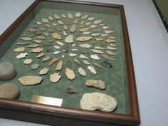 Indian artifact collection as a wonderful shadowbox!