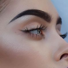 Love the soft eyes, but not the drama queen eyebrows.