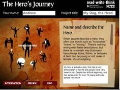 Hero's Journey - The Hero's Journey is an interactive resource that teaches students about the key elements required in developing a myth about a heroic character. The lessons are rooted in stories like The Odyssey.