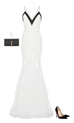 """Elegance."" by mrs-snow ❤ liked on Polyvore featuring Alex Perry, Christian Louboutin, Yves Saint Laurent, Bony Levy and Eddie Borgo"