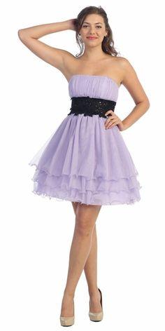 8ce1de3e52b Lilac Black Tulle Dress Short Strapless Tulle Skirt Knee Length  117.99  Pekné Šaty
