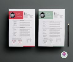 CV Template ,cover Letter Template U0026 Reference Letter Template (2 Color  Options )