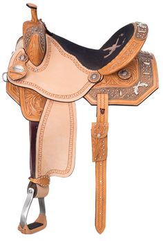 "Pistol Annie barrel saddle by Royal Silver from www.spoilmyhorse.com 13"" - 16"" saddle for $690"