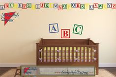 Alphabet ABC Block Decals by StickyStyleDesigns on Etsy, Starting at: $49.95 with Free Shipping!