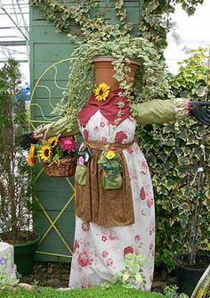 A lovely garden lady