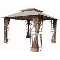 @Overstock - This elegant Gazebo is the perfect addition to any outdoor setting. This gazebo adds beauty and style with functionality to any walk or entrance way.http://www.overstock.com/Home-Garden/10-foot-x-10-foot-Coffee-Applique-Gazebo/7482592/product.html?CID=214117 $429.99
