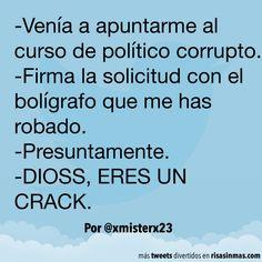 Curso de político corrupto. #humor #risa #graciosas #chistosas #divertidas