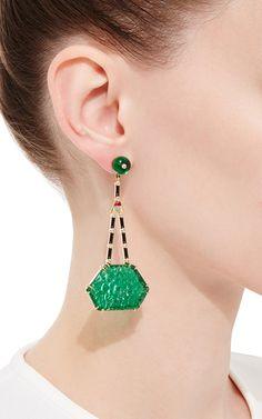 Carved Imperial #Earrings by HANUT SINGH.