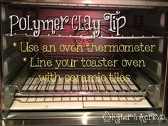 How to Bake Polymer Clay - Good discussion of basics & how to stabilize small ovens with ceramic tiles. #polymer #clay #tutorial by Beulah Emauwa Nelson