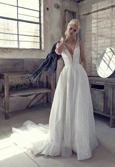 7f98a1ffb9a Cool girl vibes in this 2019 gown. Photography  Makeup  Hair  Styling  Style   14793 Wedding Day Wedding Planner Your Big Day Weddings Wedding Dresses ...