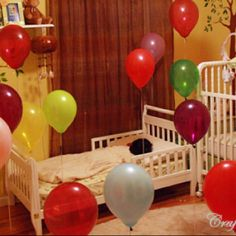 Birthday balloon surprise -- must do this someday