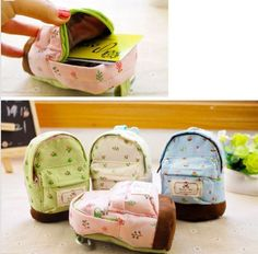 New Fashion Kawaii Fabric Canvas Mini Floral Backpack Women Girls Kids Cheap Coin Pouch Change Purses Clutch Bags Wholesale #Affiliate