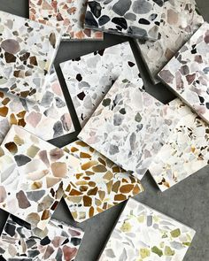 Terrazzo Samples #terrazzo #terrazzodesign #flooring #terrazzoflooring