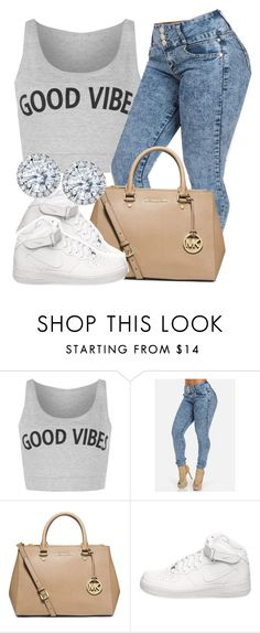 """house party-Selena"" by trillest-queen ❤ liked on Polyvore featuring WearAll, MICHAEL Michael Kors, NIKE and Kobelli"