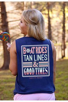 Boat Rides, Tan Lines & Good Times - Navy - Tank