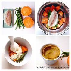 baby food - White fish, sweet potato & green bean purée