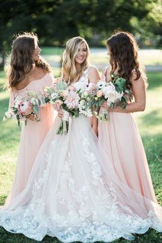 Must Take Wedding Photos With Your Bridesmaids ❤ See more: http://www.weddingforward.com/must-take-wedding-photos-with-bridesmaids/ #weddings #weddingdress