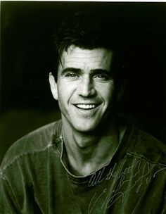 Mel Gibson, extremely handsome