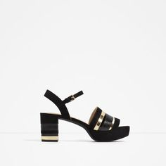 Image 1 of GOLDEN STRAPS SANDALS from Zara
