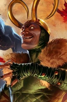 Loki - Marvel Universe Wiki: The definitive online source for Marvel super hero bios. An interpretation of Loki. Loki Marvel, Loki Avengers, Marvel Comics Art, Marvel Comic Universe, Loki Thor, Marvel Dc Comics, Comic Book Villains, Marvel Villains, Marvel Characters