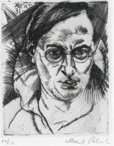 Albert Bloch - Self-Portrait - (Born: 02 August 1882; St. Louis, Missouri, US -Died: 23 March 1961; Lawrence, Kansas, U S ) American painter  Movement: Symbolism, Expressionism