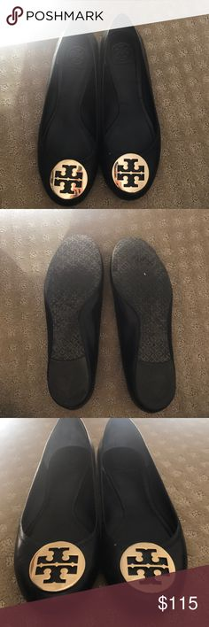 Tory Burch Reva ballerina flat Tory Burch gold medal flats size 10 Tory Burch Shoes Flats & Loafers