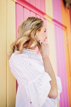 Summer outfit with white top, beautiful lace details and bell sleeves - Anna Pauliina, Arctic Vanilla blog.