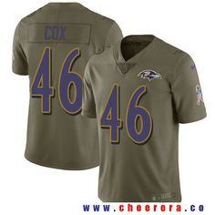 Men's Baltimore Ravens #46 Morgan Cox Olive 2017 Salute To Service Stitched NFL Nike Limited Jersey