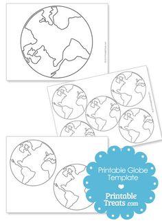 Printable Globe Template