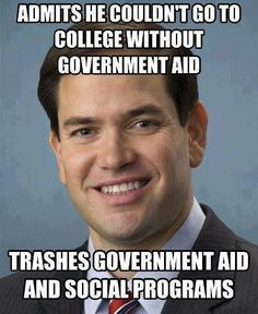 Funny Memes Skewering the 2016 GOP Candidates: Marco Rubio on Government Entitlements