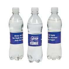 Personalized Awareness Relay Water Bottle Labels - OrientalTrading.com