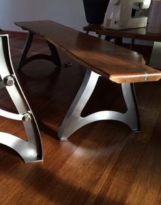 """VINTAGE INDUSTRIAL TABLE LEGS: These legs are handmade from 3/16"""" steel. They carry a vintage industrial aesthetic very similar to the antique cast legs from the early 1900's. Victorian, Art nouveau..."""