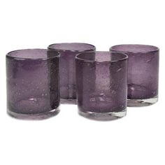 Iris Double Old Fashioned Glass in Plum