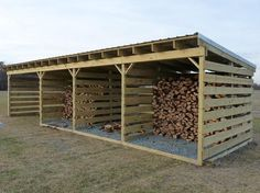 You want to build a outdoor firewood rack? Here is a some firewood storage and creative firewood rack ideas for outdoors. Lots of great building tutorials and DIY-friendly inspirations! Outdoor Firewood Rack, Firewood Shed, Firewood Storage, Wooden Storage Sheds, Shed Storage, Extra Storage, Storage Ideas, Building A Wood Shed, Wood Furnace