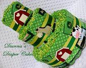 Baby Diaper Cakes John Deere