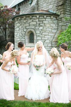 Louis Wedding, Bridesmaids in Blush Bill Levkoff Gowns Best Wedding Blogs, Wedding Trends, Wedding Venues, Wedding Photos, Bill Levkoff Bridesmaid, Bridesmaid Dresses, Wedding Dresses, Wedding Bridesmaids, Unique Weddings