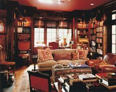 Cozy Red Library ~ Mona Hajj Design