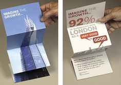 We began with a calendar, full of interesting infographics that would have impact over a long period of time. The second stage was a fold out direct mail piece using the iconic London Shard.