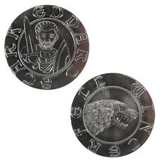 Game of Thrones Silver Stag of Eddard Stark Coin - Shire Post Mint - Game of Thrones - Prop Replicas at Entertainment Earth