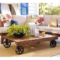 Outdoor Coffee Table from Barn Wood