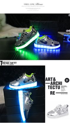 bee3b38f05 US $36.86 |Aliexpress.com : Buy 2016 Fashion Kids Baskets LED Light Sneakers  Famous Brand Children Shoes with Light USB Charging Led Shoes Girls Boys  from ...