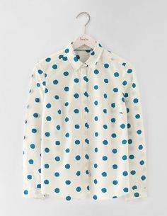 Boden The Classic Shirt Solstice Blue Spot Women Your favourite shirt is now ready for Christmas. The clean cut and soft cotton are the same, but the foil printed spots add a touch of festive magic. Wear with skinnies on days when a Christmas jumper http://www.MightGet.com/january-2017-13/boden-the-classic-shirt-solstice-blue-spot-women.asp